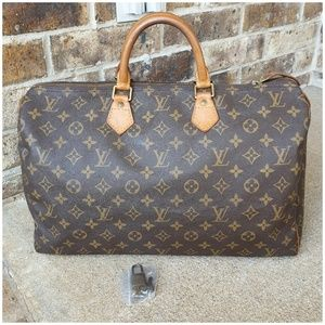 Handbags - Louis Vuitton Authentic Speedy 40/Lock N Key
